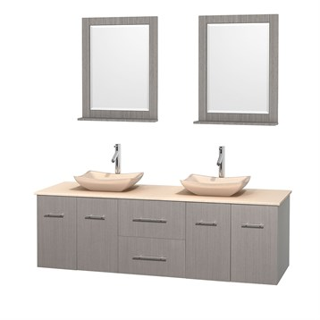 centra 72 quot  double bathroom vanity for vessel sinks by