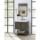 "Fairmont Designs Toledo 30"" Vanity with Doors for Quartz Top - Driftwood Gray 1401-30"