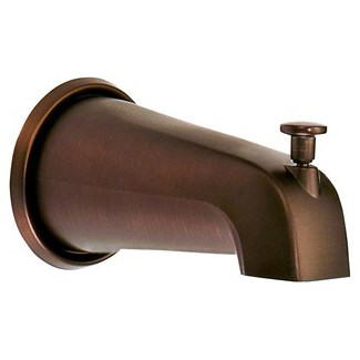 "Danze 8"" Wall Mount Tub Spout with Diverter - Tumbled Bronzenohtin Sale $58.50 SKU: D606425BR :"
