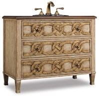 "Cole & Co. 42"" Designer Series Collection Middleton Sink Chest - Antiqued Parchment with Warm Gold 11.22.275542.16"