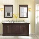 "Fairmont Designs Providence 72"" Double Bowl Vanity - Aged Chocolate 1529-V7221D"