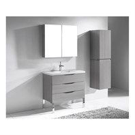 "Madeli Milano 36"" Bathroom Vanity for Integrated Basin - Ash Grey B200-36-002-AG"
