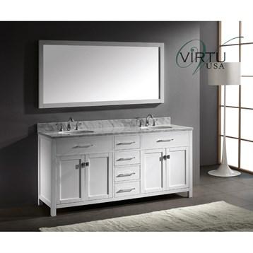 Virtu Usa Caroline 72 Double Sink Bathroom Vanity White Free Shipping Modern Bathroom