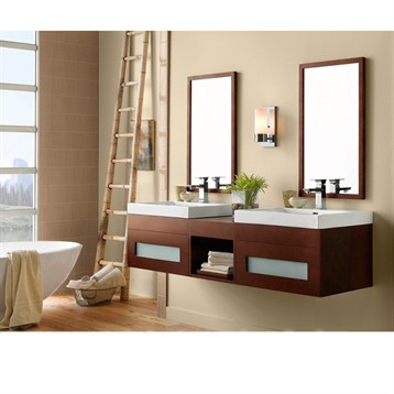 RONBOW Rebecca Double Vanity Sinktop Free Shipping Modern - Ronbow bathroom vanities