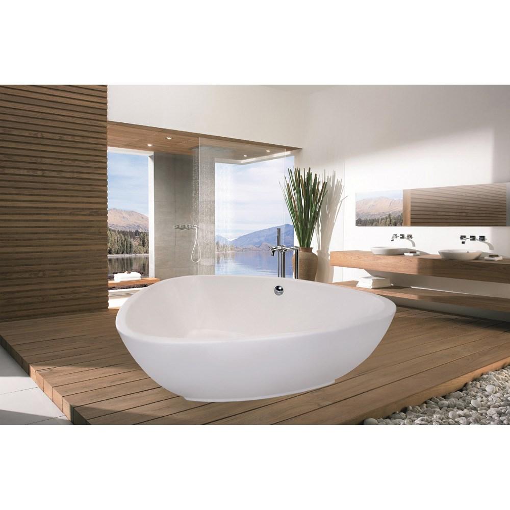 Aquatica PureScape 400 Freestanding Acrylic Bathtub - White | Free ...
