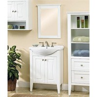 "Fairmont Designs 26"" Lifestyle Collection Tux n Tie Vanity Combo - White 102-V26"