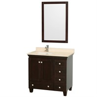 Acclaim 36 in. Single Bathroom Vanity by Wyndham Collection - Espresso WC-CG8000-36-SGL-VAN-ESP-