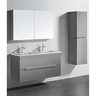 "Madeli Urban 48"" Double Bathroom Vanity for Quartzstone Top - Ash Grey B300-48D-002-AG-QUARTZ"
