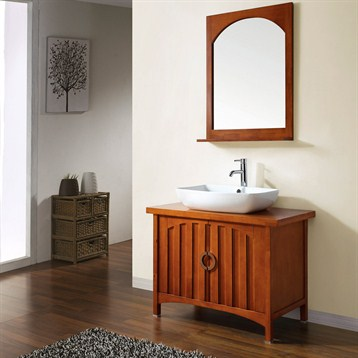Craftsman and mission style bathroom vanities for Craftsman style bathroom vanities