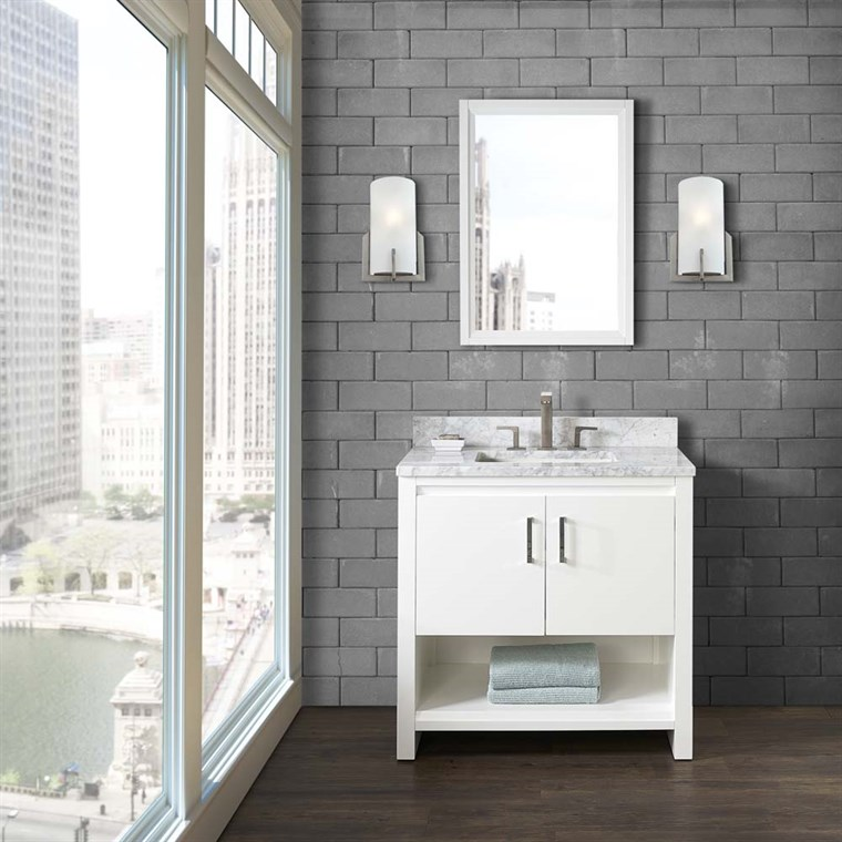 "Fairmont Designs Studio One 36"" Vanity - Glossy White 1517-V36"