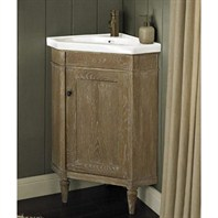 "Fairmont Designs Rustic Chic 26"" Corner Vanity & Sink Set - Weathered Oak 142-CV26"