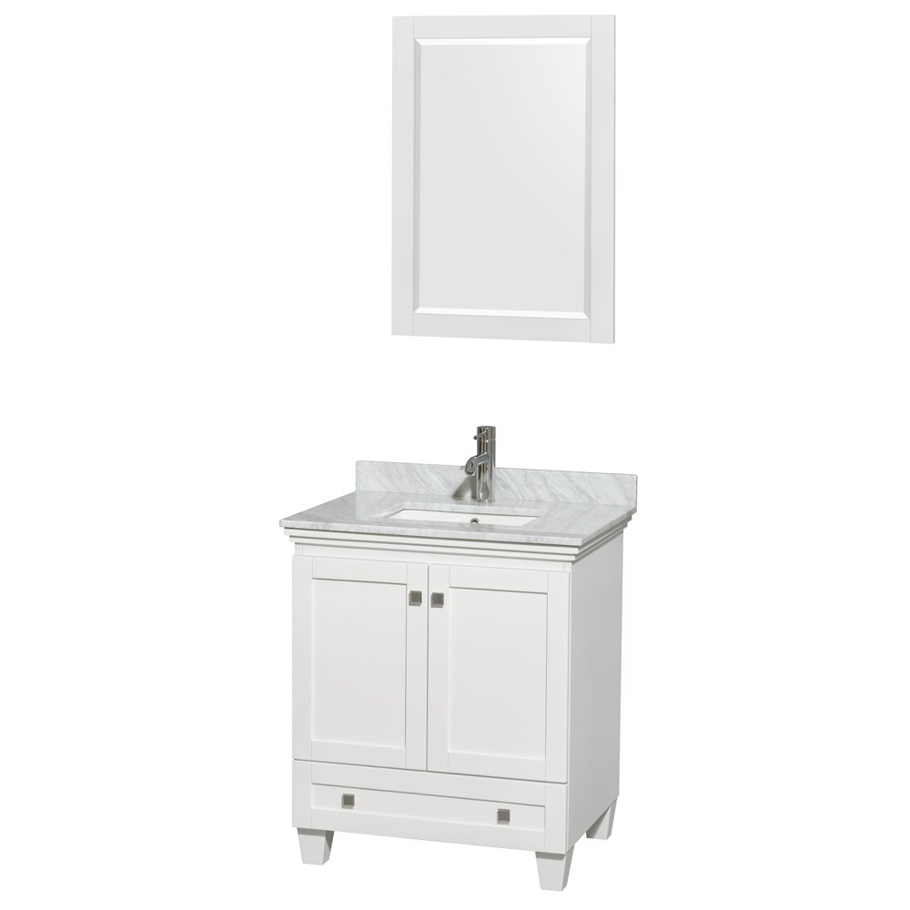 Acclaim 30 in. Single Bathroom Vanity by Wyndham Collection - White WC-CG8000-30-SGL-VAN-WHT