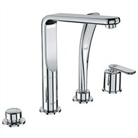 Grohe Veris Roman Tub Filler with Personal Hand Shower - Starlight Chrome