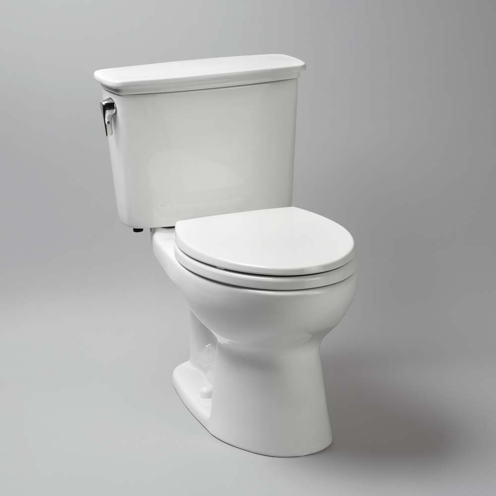 TOTO Eco Drake Transitional Two-Piece Elongated Toilet ADA, 1.28 GPF ...