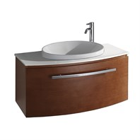 "Allura 40"" Modern Bathroom Vanity - Pear Wood WC-V18029-39-PR"