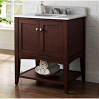 "Fairmont Designs Shaker Americana 30"" Vanity - Open Shelf - Habana Cherry 1513-VH30_"