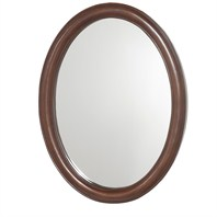 "Colby Oval Bathroom Mirror - Dark Cherry (24 1/2"" x 32 1/4"") H11010-OVAL-DKCH"