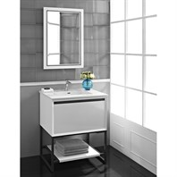 "Fairmont Designs M4 30"" Vanity for Integrated Sinktop - Glossy White 1525-V30-"