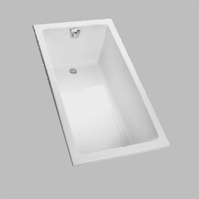 "TOTO 60"" Enameled Cast Iron Drop-In Bathtub FBY1550P"