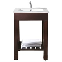 "Avanity Loft 24"" Single Modern Bathroom Vanity Set - Dark Walnut LOFT-VS24-DW"