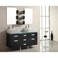 "Virtu USA Maybell 56"" Double Sink Bathroom Vanity - Espresso UM-3063-G-ES"