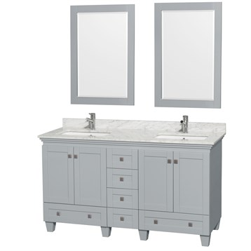 Acclaim 60 in. Double Bathroom Vanity by Wyndham Collection - Oyster Gray