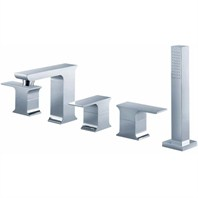 fluid Jovian Roman Tub Set w/ Handshower F2115
