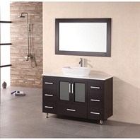 "Design Element Milan 48"" Bathroom Vanity with Vessel Sink - Espresso B48-VS"