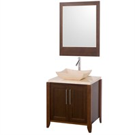 "Fango 30"" Single Bathroom Vanity - Walnut CGD007-30-WAL"