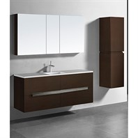 "Madeli Urban 60"" Single Bathroom Vanity for Quartzstone Top - Walnut B300-60C-002-WA-QUARTZ"
