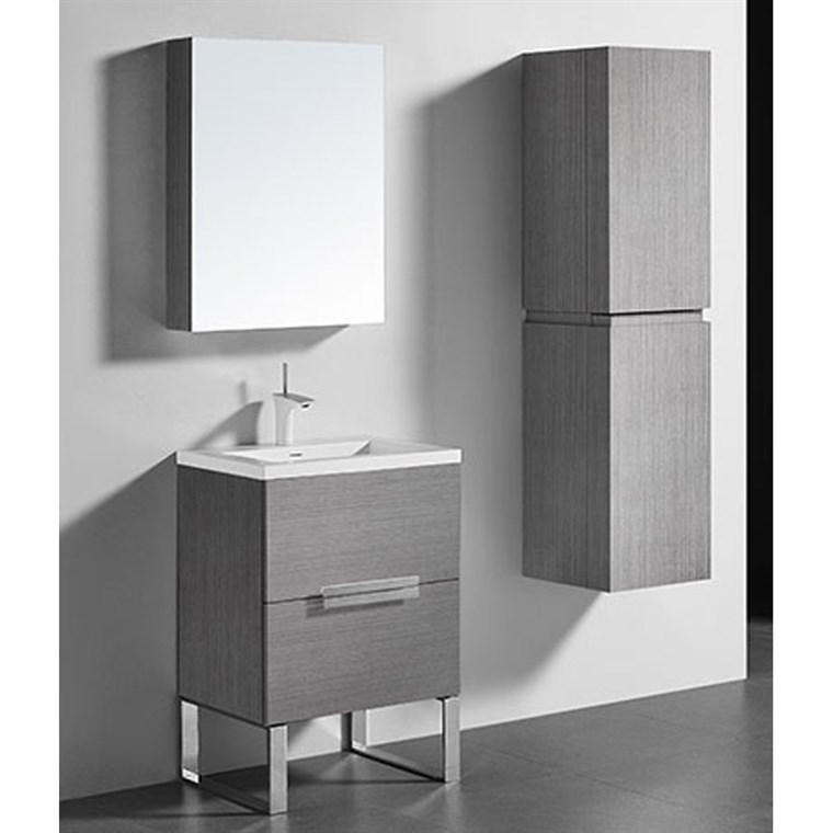 "Madeli Soho 24"" Bathroom Vanity for Integrated Basin - Ash Grey B400-24-001-AG"