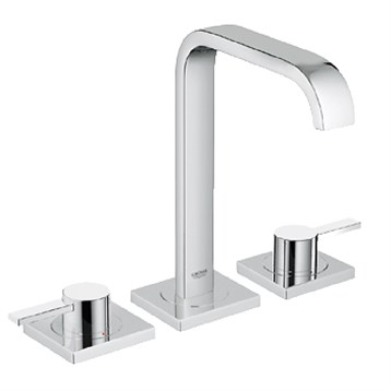 """Grohe Allure 3-Hole Lavatory Wideset, 1/2"""" M-Size, Starlight Chrome GRO 20191000 by GROHE"""