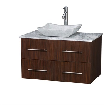 Bianca 36 Wall Mounted Modern Bathroom Vanity Zebrawood Free Shipping
