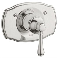 Grohe Geneva Thermostat Trim with Lever Handle - Infinity Brushed Nickel