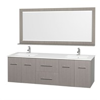 "Centra 72"" Double Bathroom Vanity Set by Wyndham Collection - Gray Oak WC-WHE009-72-DBL-GROAK"