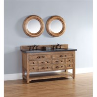 "James Martin 60"" Malibu Double Vanity - Honey Alder 500-V60D-HON"