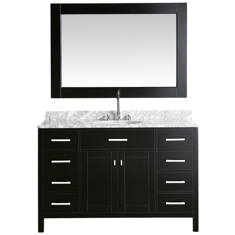 "Design Element London Stanmark 54"" Single Sink Vanity Set - Espresso DEC076H-E-WT"