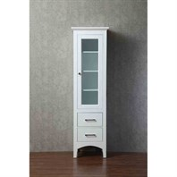 Stufurhome Leah 20 Inch Linen Cabinet - White HD-001LC