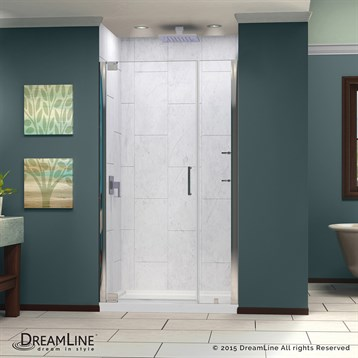 """Bath Authority DreamLine Elegance Frameless Pivot Shower Door with Handle, 37-1/4"""" to 39-1/4"""" SHDR-4137720 by Bath Authority DreamLine"""