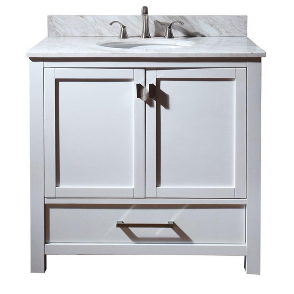 "Avanity Modero 36"" Bathroom Vanity - Whitenohtin Sale $816.00 SKU: MODERO-36-WT :"
