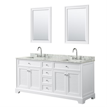 Tamara 72 Double Bathroom Vanity by Wyndham Collection - White