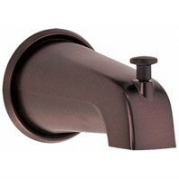 "Danze 5 1/2"" Wall Mount Tub Spout with Diverter - Tumbled Bronze D606225BR"