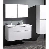 "Madeli Bolano 48"" Double Bathroom Vanity for Integrated Basin - Glossy White B100-48D-022-GW"