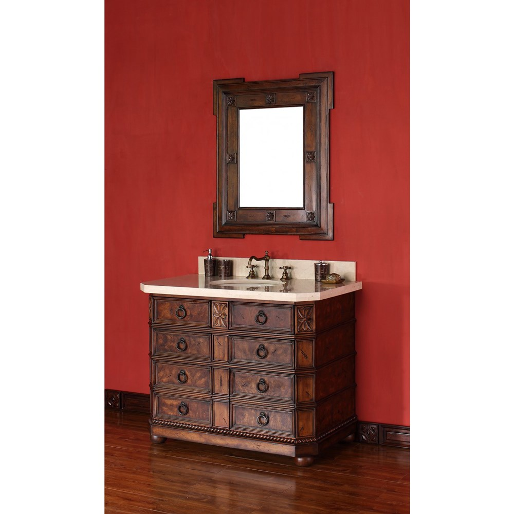 "James Martin 42"" Regent Single Vanity - English Burlnohtin Sale $1240.00 SKU: 200-V42-ENB :"
