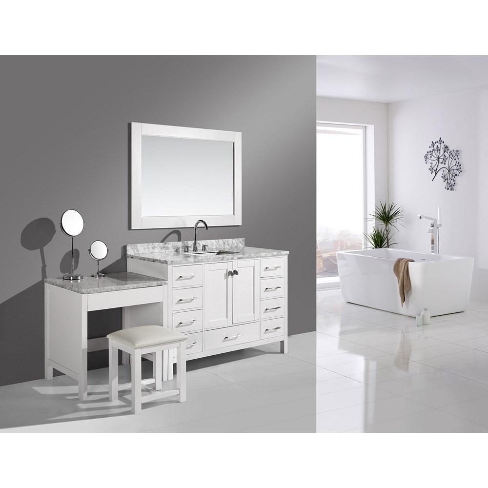 Vanity Set.Design Element London 48 Vanity Set With Make Up Table White