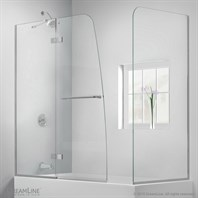 "DreamLine Aqua Ultra 56 to 60"" W x 30"" D x 58"" H Hinged Tub Door SHDR-3448580-RT"