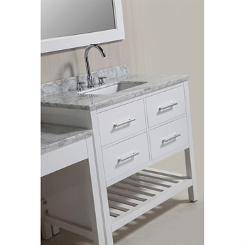 Design element london two 36 vanities with open bottom for When did table 52 open
