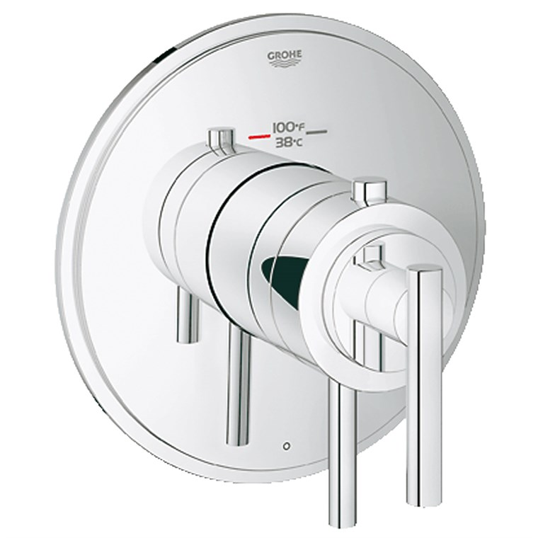 Grohe Atrio Single Function Thermostatic Trim with Control Module - Starlight Chrome GRO 19848000