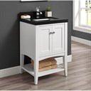 "Fairmont Designs Shaker Americana 24"" Vanity - Open Shelf for Quartz Top- Polar White 1512-VH24"