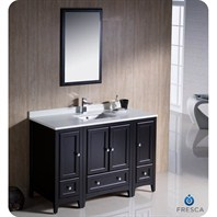 "Fresca Oxford 48"" Traditional Bathroom Vanity with 2 Side Cabinets - Espresso FVN20-122412ES"